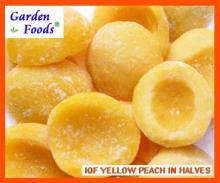 IQf желтый персик пополам