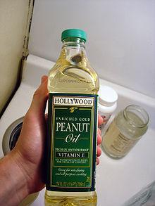 Peanut oil bottle