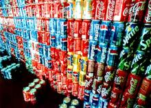 Pepsi cola, Coka Cola, Fanta, Sprite Soft Canned Drinks