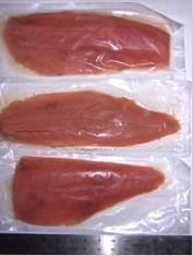Frozen chum /pink salmon fillet