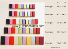 Rectangular Chocolates, chocolate bars