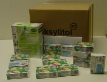Xylitol Powder candy-tablets mint - BOX (40g)