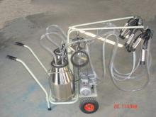 Vacuum Moving double bottle Cow Milking machine