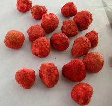 Frozen dried strawberry whole