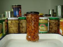 brown whole canned nameko Mushroom in brine