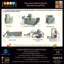 Extruded inflated snacks production line
