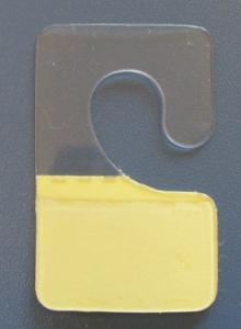 food display J-hook, PVC plastic self-adhesive hang tab