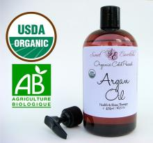 100% PURE Virgin Organic Moroccan Argan Oil 16 oz