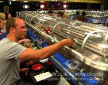 Double-deck warm and cooling rotary sushi conveyor