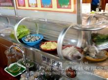 Single-deck rotary sushi conveyor belt with glass cover