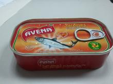 CANNED SADINE IN VEG OIL 125G