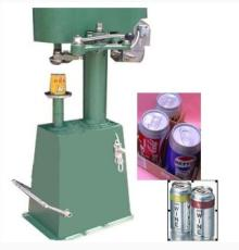 Semi automatic Aluminum foil wine juice bear can sealing machine