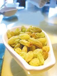 dried green raisin