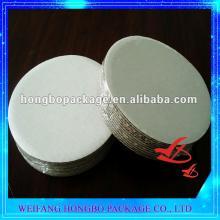 White Waxed Corrugated Cake Cirlce/Cake Base