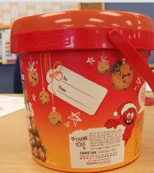 Plastic Bucket with Lid , Confectionery Bucket ,Food Container