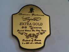 zinc alloy wine label,custom wine label,metal wine sticker