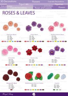 Edible Royal Icing Sugar Flower Decors