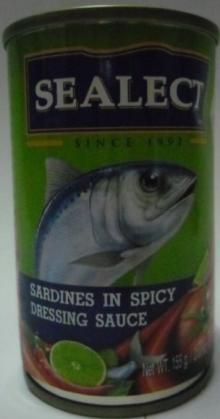 Canned Sardines (available in different media) 1. Garlic & pepper 2. Chilli sauce 3. Spicy sauce