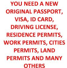 We Issue New Original Passport And Visa Service
