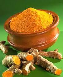 tumeric finger and powder