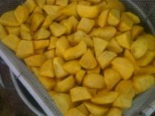 Fried sweet potato Random or diamond cut