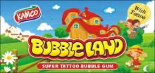 bubble land bubble gum with tatoo