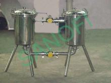 Double filter for Juice and soft drink production