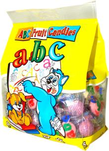 ABC filled candy fruit flavour 400g