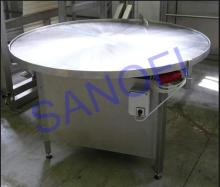 Accumulative table for bottles,  rotary  table