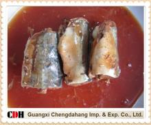 Canned mackerel in tomato sauce with chilli
