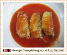 Canned sardine in tomato sauce with chilli
