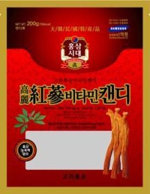 Korean red ginseng vitamin candy