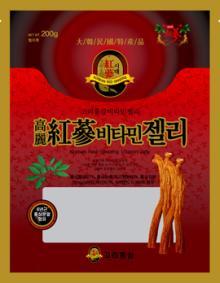Korean red ginseng vitamin jelly