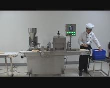 automatic bread slicing and filling machine