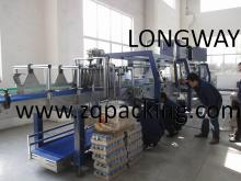 overwrapping   machine ---with auto tray feeding ,Can case wrapper ,Film wrapping  machine