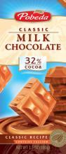 Milk chocolate 32% cocoa, economy class