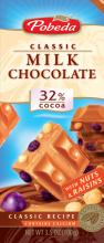Milk chocolate Nuts & Raisins 32% cocoa ec.