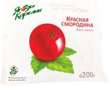 IQF red currant in retail 200 gr package
