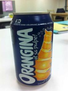 Orangina Cans