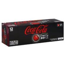 Coca-Cola Zero Cherry calorie free cola with cherry flavor
