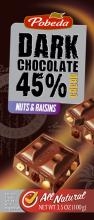 Dark chocolate Nuts & Raisins 45% cocoa, l.p.