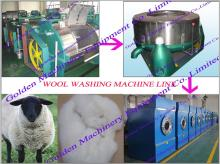 Sheep wool washing cleaning dewatering machine