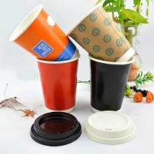 hot  paper   coffee   cup  disposable  paper   cup  with lid
