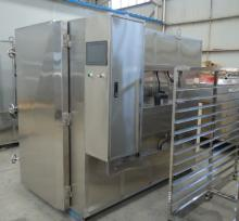 -190 C cabinet freezer with trolley