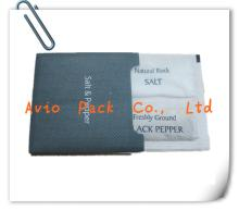 salt & pepper sachets with cover