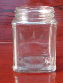 260ml square glass jar
