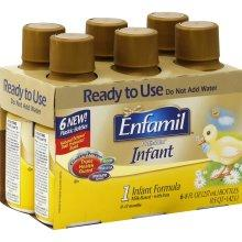 Enfamil Infant Infant Formula, Milk-Based With Iron, 1, 0-12 Months - 6 - 8 fl oz (237 ml)