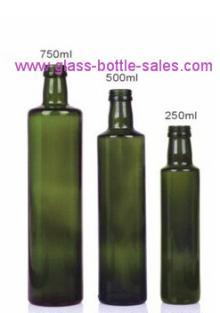 Dorica Dark Green Olive Oil Glass Bottles