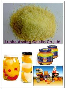 edible grade gelatin used for canned fruit