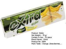 banana wafer high quality 70 gr